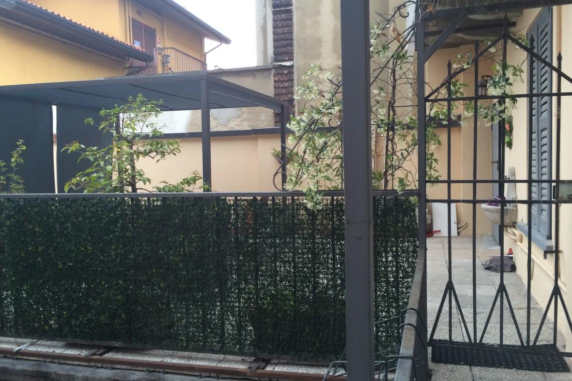 Ingresso cancello privato nel terrazzo